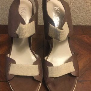 Michael Kors Chocolate Brown & Cream Espadrilles